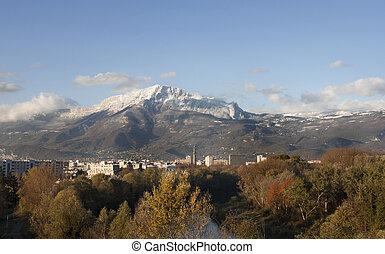 Mountain at Grenoble City (Provence - Alpes, France).