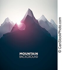 Mountain Background - Mountain landscape, nature background,...
