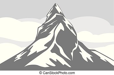 Mountain background. Vector illustration