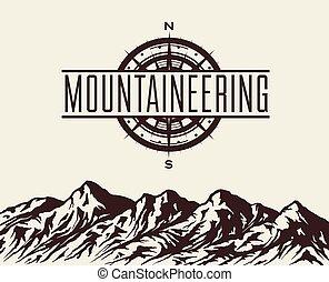 Mountain background vector
