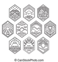 Mountain badges linear 1