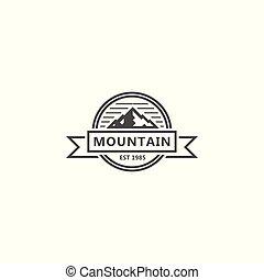 Mountain bagde. Vector logo template