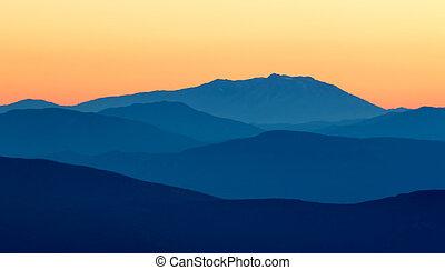 Mountain - Beautiful sunset light in the spanish mountains...