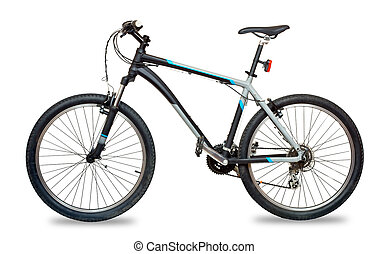 Mountain bicycle bike isolated on white background