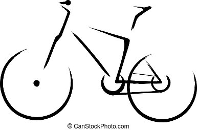 Mountain bicycle - Illustration with a bike symbol