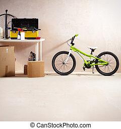 Mountain bike and equipment - Image of mountain bike and ...
