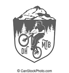 mountain bike badges, logo and labels - Vintage and modern...