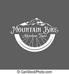 mountain bike badges - vintage and modern bicycle shop logo...