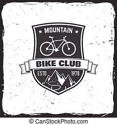 Mountain bike club. Vector illustration.