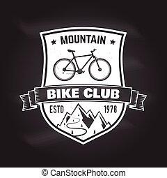 Mountain bike club. Vector illustration. Concept for shirt ,...