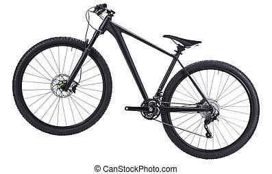 mountain bike isolated on white background