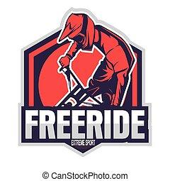 Mountain bike logo - Adventure logo, Emblem for bike logo