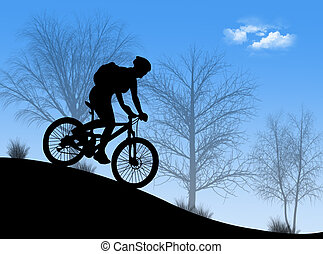 Mountain bike in the nature in a wonderful day