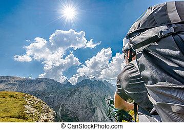 mountain-bike, reise