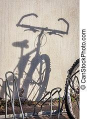 mountain bike shadow