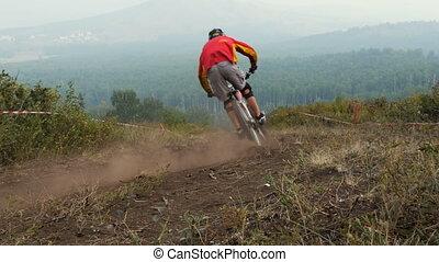 mountain bike sport athlete - Extreme mountain bike sport...