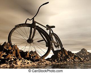 mountain bike -  mountain bike landscape