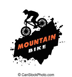 Mountain bike trials emblem. - Mountain bike trials. Emblem...