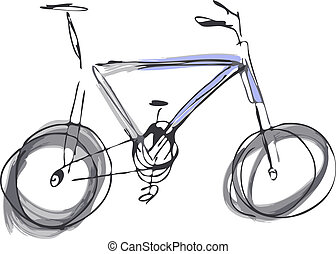 Mountain bike - Two-tone mountain bike. Vector