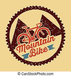 mountain bike vintage style poster