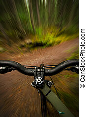 Mountain Biker Point of View