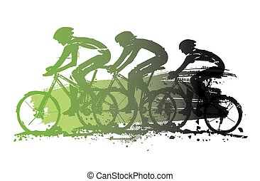 Mountain bikers, competition.