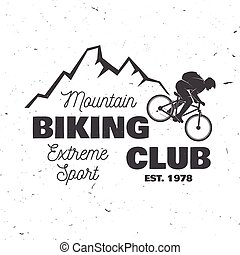 Mountain biking club. Vector illustration.