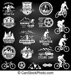 Mountain biking collection. Vector illustration.