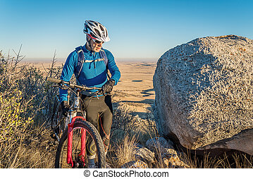 mountain biking in Colorado foothills