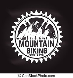 Mountain biking. Vector illustration. Concept for shirt ,...
