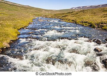 Mountain brook - Iceland, Westfjords.