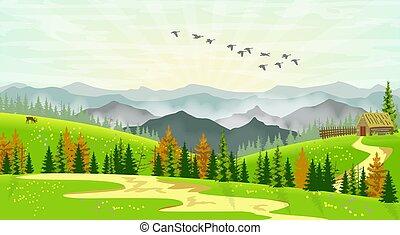 Mountain Cabin Scenery