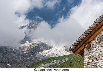 Mountain cabin.