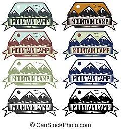 mountain camp vintage labels set