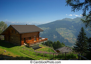 Mountain chalet Les Colons Switzerland Aug-5-13 relaxing...