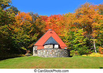 Mountain chapel near Stowe Vermont