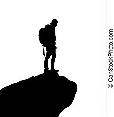 Mountain climber on top