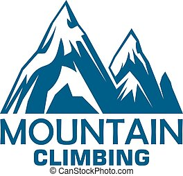 Mountain climbing adventure badge for sport design