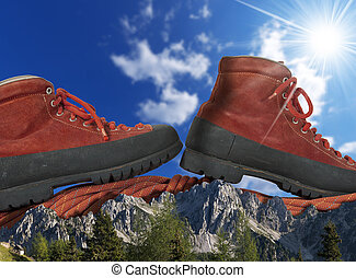 Mountain Climbing Concept