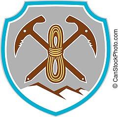 Mountain Climbing Mountaineering Pick Axe Rope -...