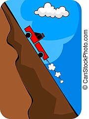 mountain - Illustration of a truck climbing though mountain...