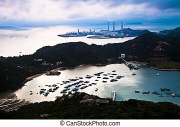 Mountain coast landscape