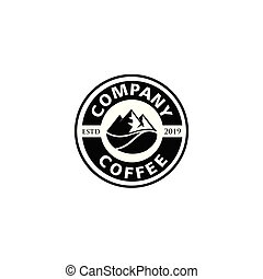 ,mountain coffee design concept