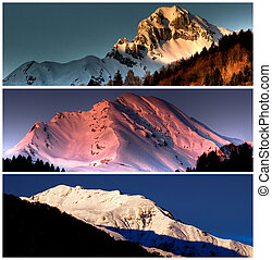 mountain collage landscape