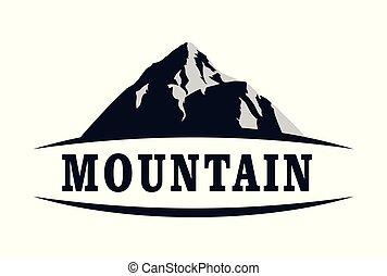 mountain concept abstract icon vector logo