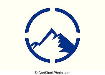mountain concept abstract logo icon