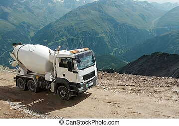 Mountain construction - Construction on a mountain side in ...