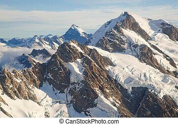 Mountain Cook Range Landscape New Zealand - Mountain Cook ...