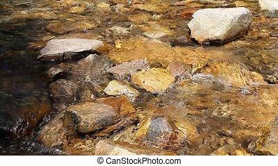 Mountain creek crystal clear water