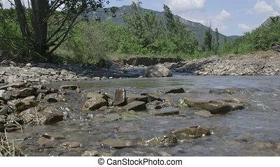 Mountain creek in Crimea